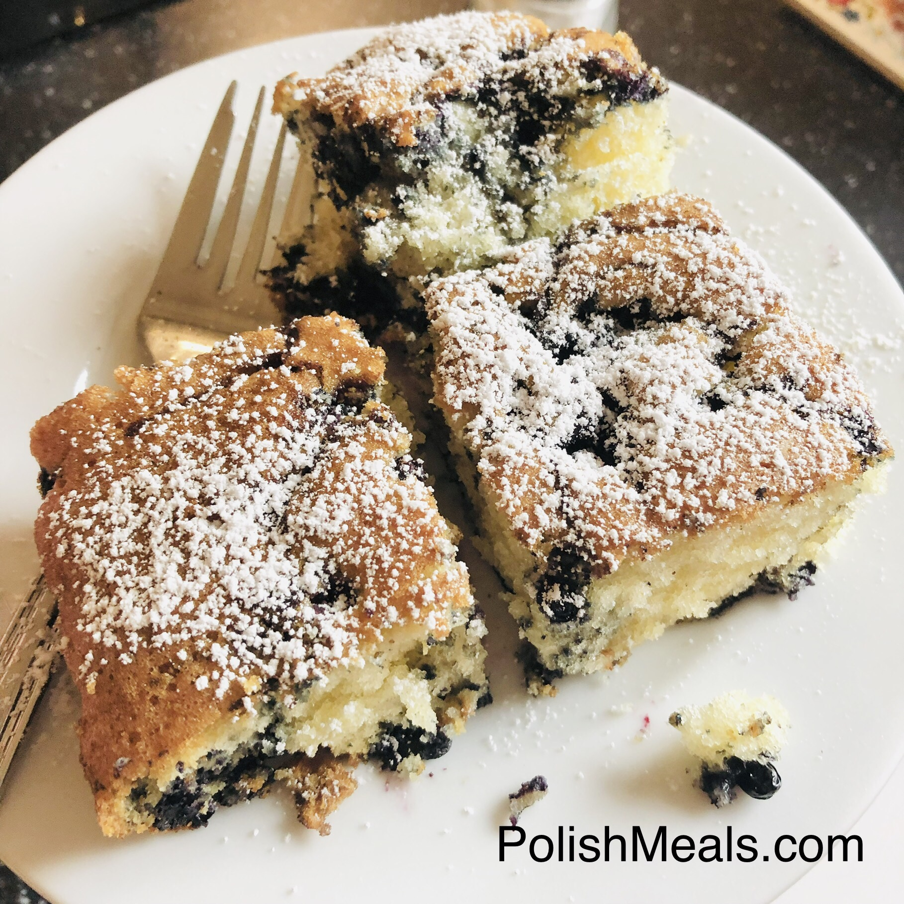 butter cake with fruit
