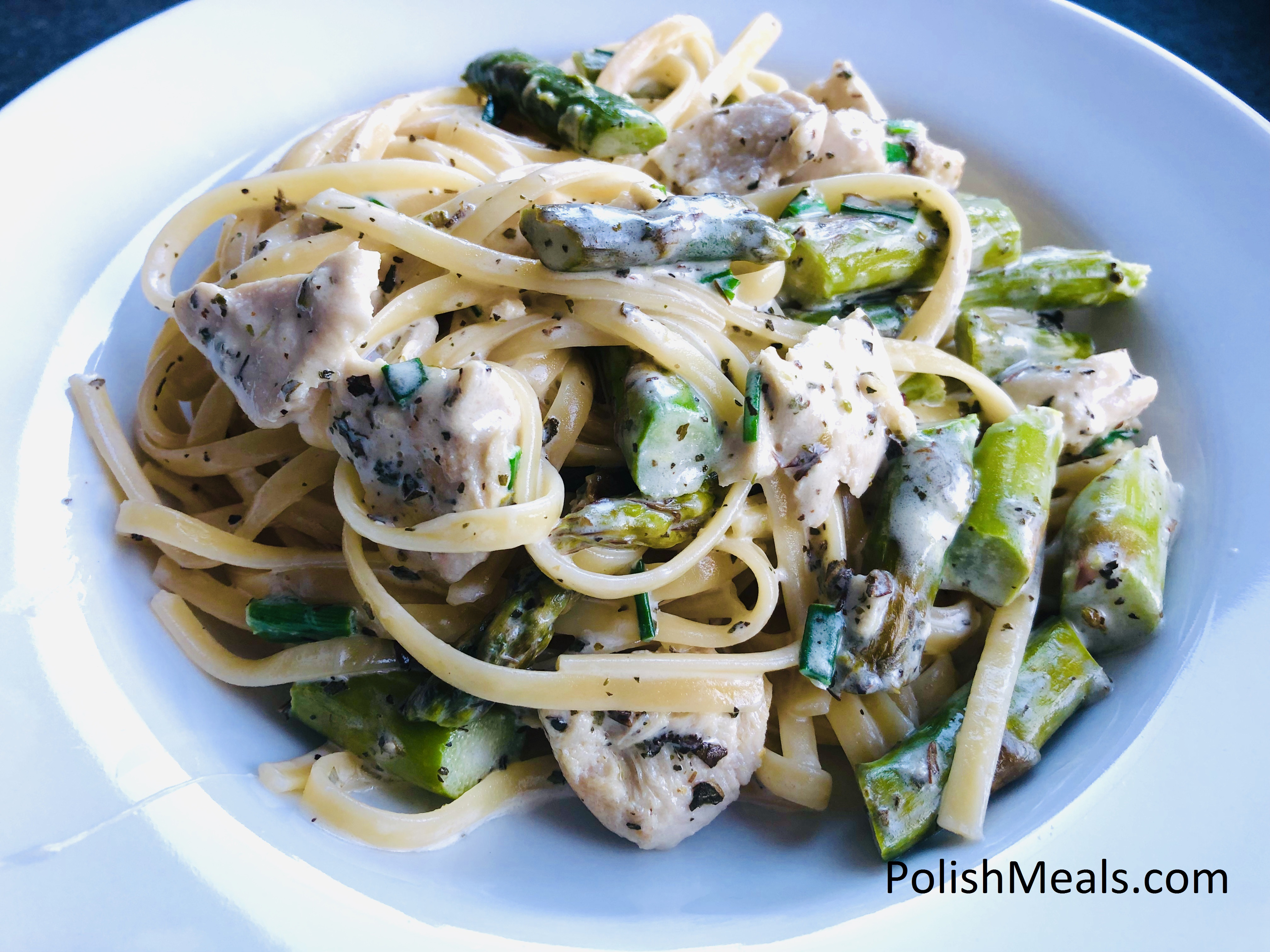 Pasta with Creamy Asparagus and Chicken (6)