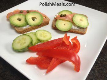 bread avocado salmon