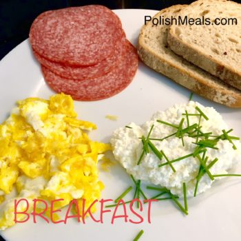 Bread, Salami, Egg & Cottage Cheese