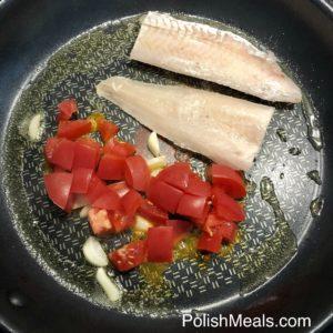 Garlic & Tomato Hake Fish 6